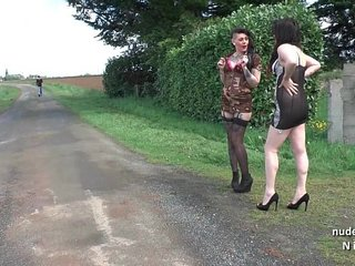 Two french hookers love sucking cocks to get money
