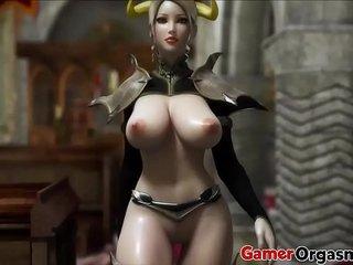 GamerOrgasm.com Hardcore 3D Big Tits Beauty Queen
