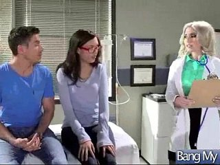 Hard Sex Tape With Dirty Doctor Bang Horny Patient movie-15
